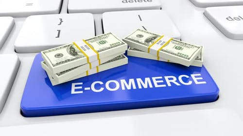 Internet marketing and e-commerce online trading concept selling via internet