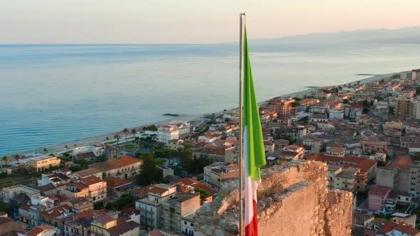 Italian Flag on the City