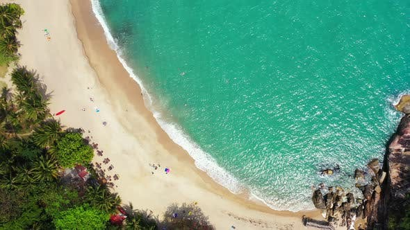 Thumbnail for Luxury above abstract shot of a white paradise beach and aqua turquoise water background