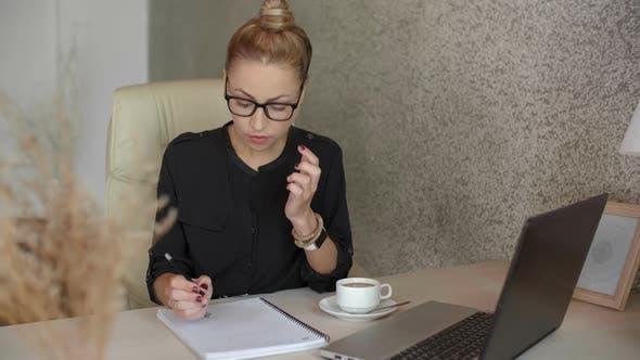 Interior Designer Working in Office