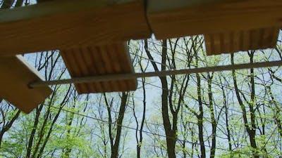 Zip-line in an adventure park