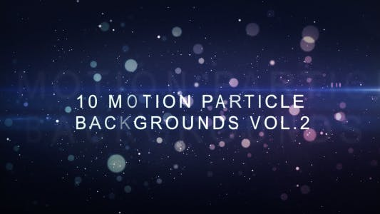 Thumbnail for Motion Particle Backgrounds Vol.2