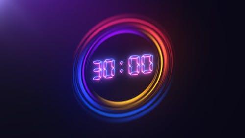 Glowing Circle Countdown
