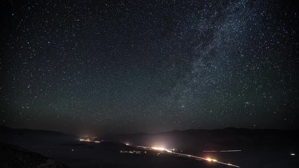 Thumbnail for Road Stars Night Sky Time Lapse