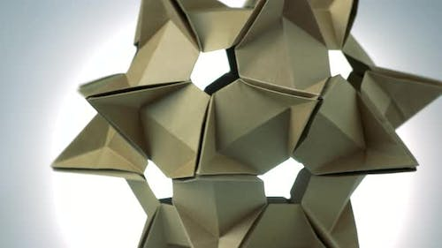 Stellated Spiky Origami Figure.