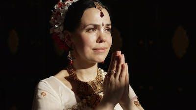 Portrait of Hare Krishna Woman