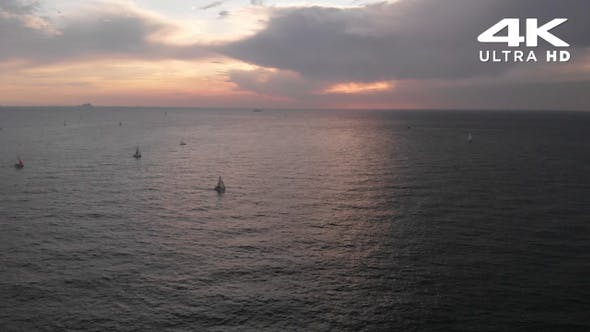 Thumbnail for Sunset Ocean With Sailboat