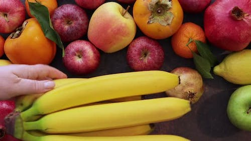 Assorted autumnal fruits