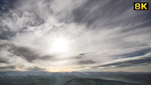 Cloud Movements to Advance Time in the Background