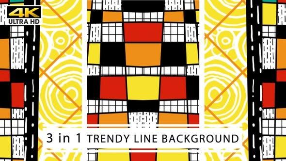 Thumbnail for Trendy Line Background 4K