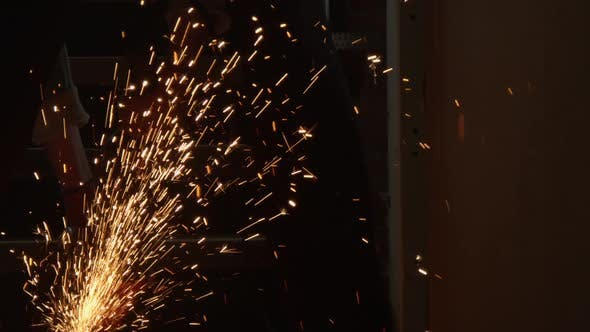 Thumbnail for Cutting Steel with Angle Grinder in Workshop