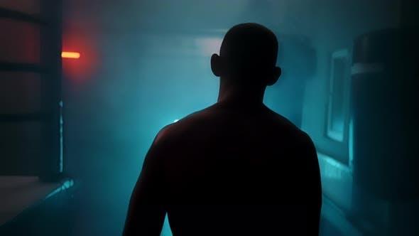 Dark Silhouette Man