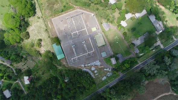 Thumbnail for Birdseye View Of A Power Substation