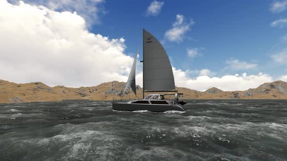 Thumbnail for The sailboat is sailing during the day
