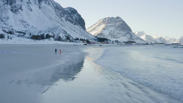 Thumbnail for Children On A Winter Polar Beach 3