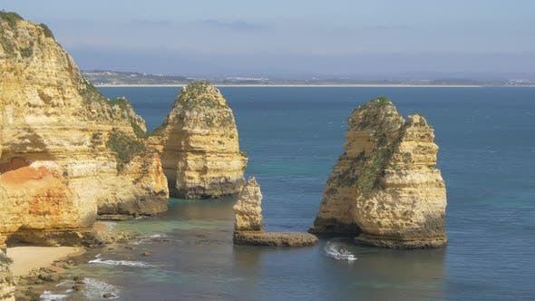 The rocky sea shore
