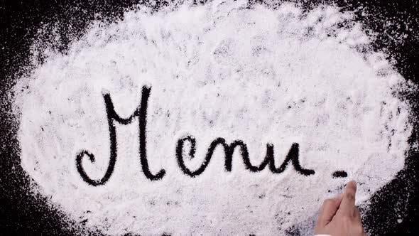 Thumbnail for Salt Writing on Black Surface   Menu