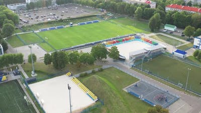 Sports Complex in the Center of Minsk with Outdoor Sports Grounds for Games