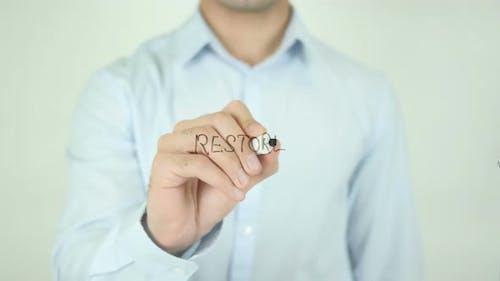 Restore, Writing On Screen