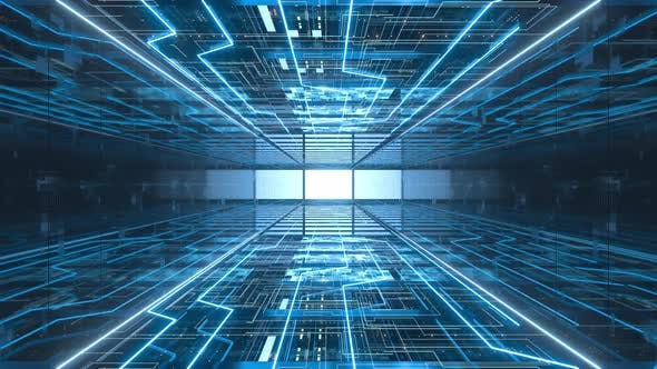 Go forward in the network security server room