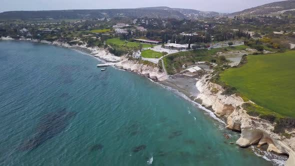 Thumbnail for Drone Is Flying To Beautiful Black Sand Beach in Cyprus, Limassol Area