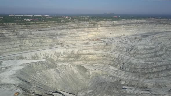 Motion Over Asbestos Pit Terrain Terraces To Mining Dumps