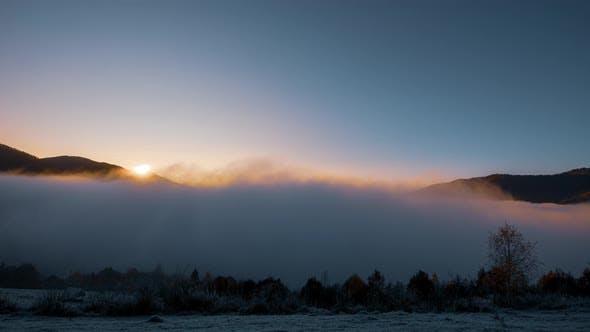 Sunrise in a White Mist