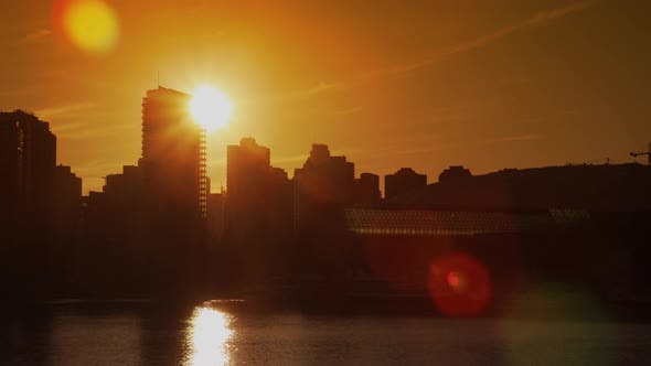 Thumbnail for Vancouver Skyline Sunset Time Lapse