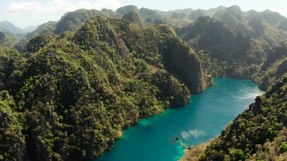 Thumbnail for Mountain Lake Kayangan on Tropical Island, Philippines, Coron, Palawan