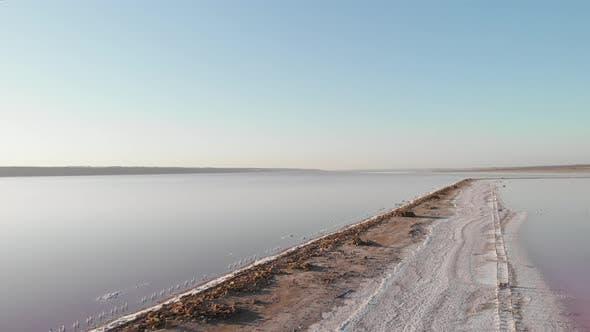 Thumbnail for Saltiest estuary in Ukraine, Kuyalnik. Dry mud and salt on shore of Kuyalnik