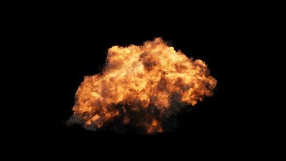 Kurze Explosion
