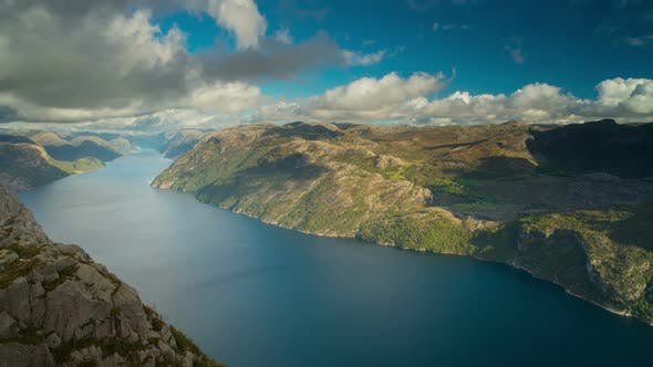 Thumbnail for View from Preikestolen Mountain in Norway