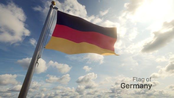 Germany Flag on a Flagpole