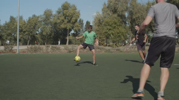 Thumbnail for Football Forward Making Attempt To Score Goal