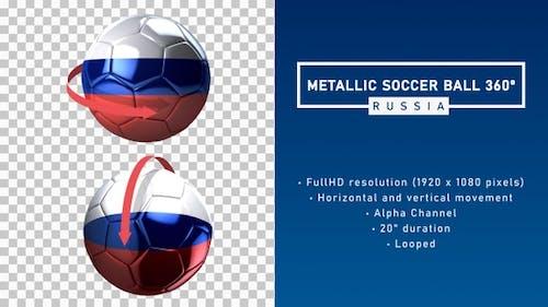 Metallic Soccer Ball 360º - Russia