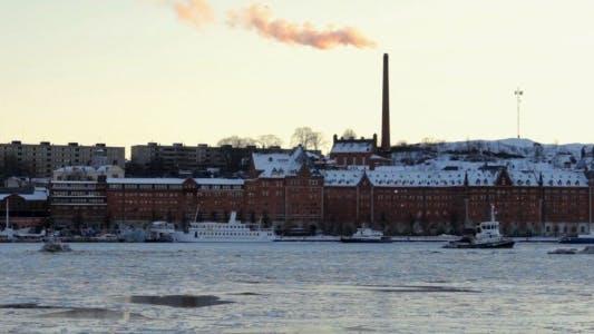 Thumbnail for Sunset Over Winter Stockholm