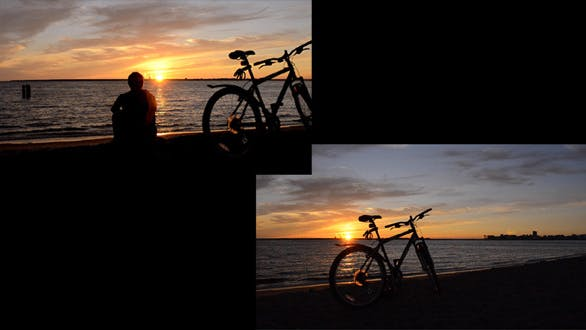 Thumbnail for Man And Bicycle On The Coast At Sunset