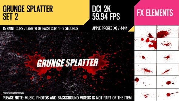 Thumbnail for Grunge Splatter (2K Set 2)