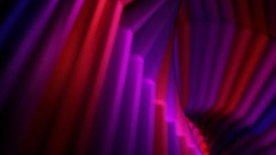 Abstract Glowing Violet Twisted Shape