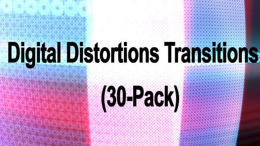 Thumbnail for Digital Distortions Transitions (30-Pack)