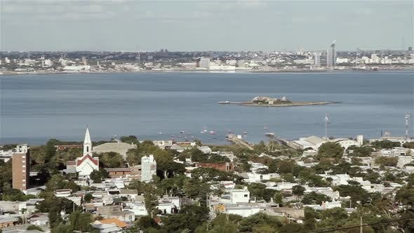 Thumbnail for View of Montevideo city and Harbor from Cerro de Montevideo.