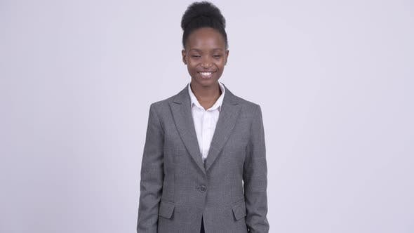 Thumbnail for Young Happy African Businesswoman Smiling