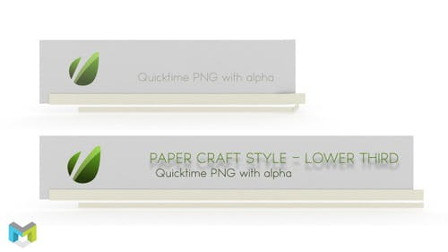 Paper Craft Style Lower Third