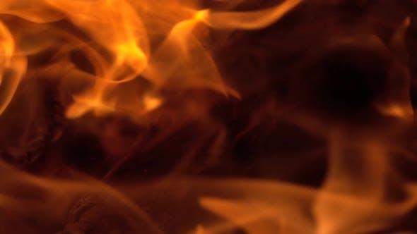 Thumbnail for Burning Fire, Firewood Coal Closeup