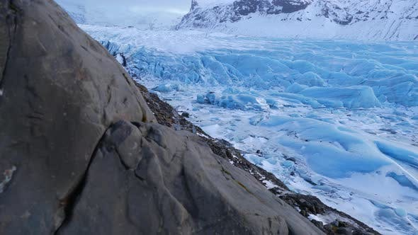 Thumbnail for Iceland Blue Glacier Ice Chunks In Winter