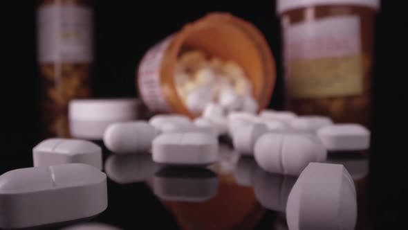 Thumbnail for Close up view moving over prescription drugs
