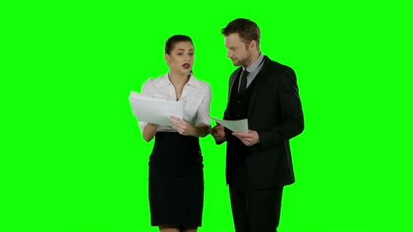 Thumbnail for Business Conflict. Green Screen