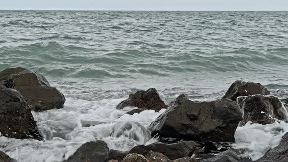Thumbnail for Powerful Waves on a Rocky Beach