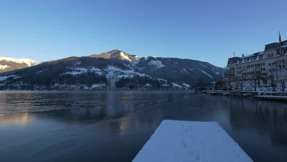 Cover Image for Lake Zell on a winter day