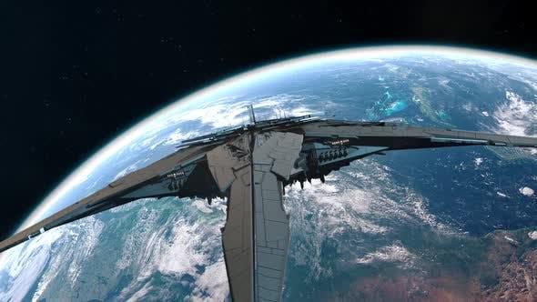Alien Mothership Approaching Earth Orbit